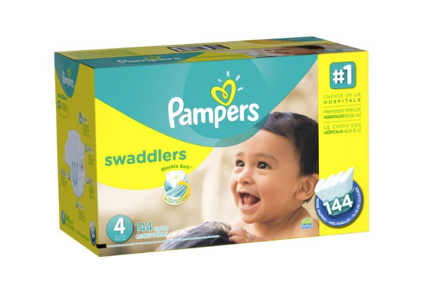 Pampers Swaddlers Diapers, Size 4, (144 Count)