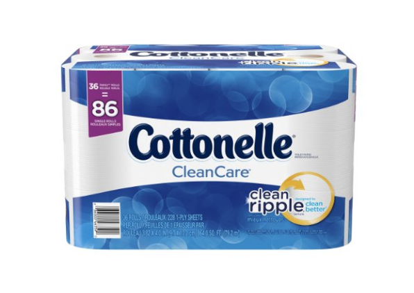 36 Cottonelle CleanCare Family Roll Toilet Paper