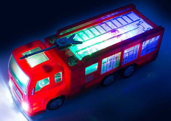Fire truck with lights and sirens