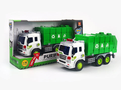 Garbage truck with lights and sounds
