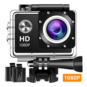 1080P Full HD Waterproof Underwater Camera With 2 Batteries And Accessories Kit