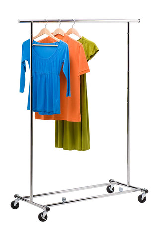 Honey-Can-Do Collapsible Commercial Garment Rack with Wheels