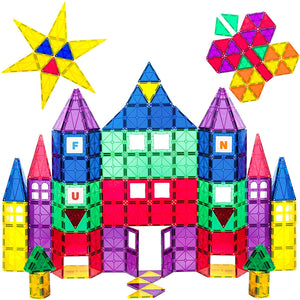 100 Piece Playmags 3D Magnetic Toy Blocks