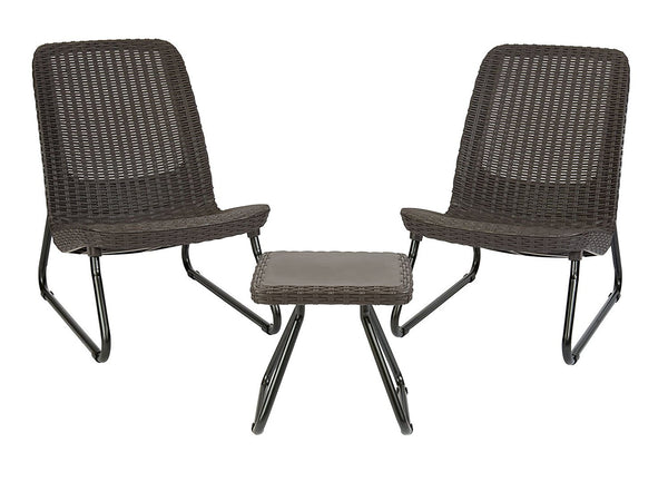 3 piece all weather outdoor patio set