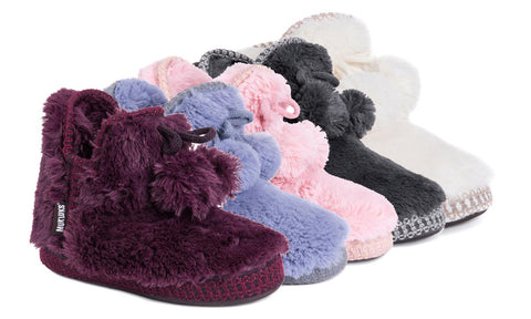 Muk Luks Women's Faux-Fur Amira Slippers