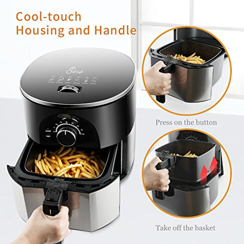 3.5Qt Hot Air Fryer With Smart Control
