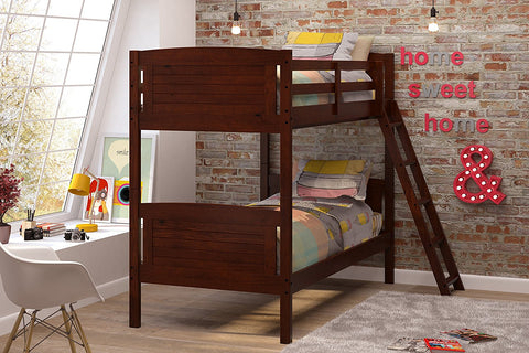 Woodcrest Scored Bunk Bed, Twin