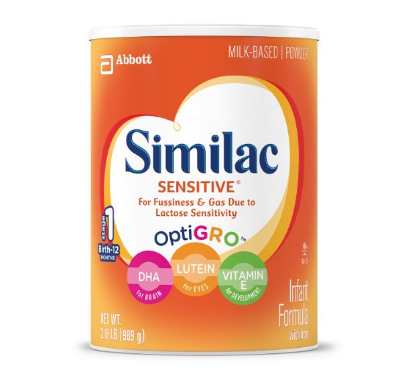 Pack of 3 Similac Sensitive Infant Formula with Iron