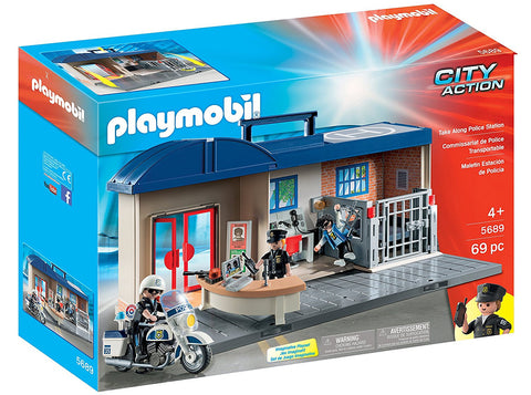 PLAYMOBIL Take Along Police Station Playset