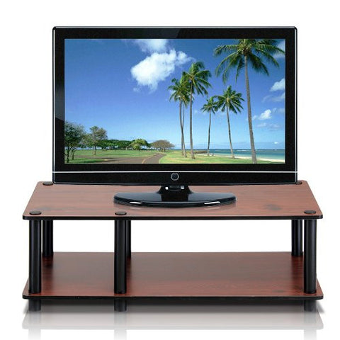Television Stand with Black Tube