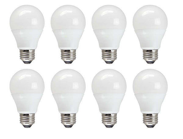 Pack of 8 LED non-dimmable light bulbs