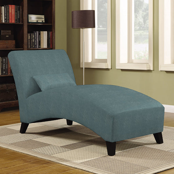 Handy Living Cara Chaise in Turquoise Velvet
