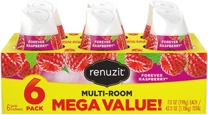6 Renuzit Adjustable Air Freshener Gel, Forever Raspberry