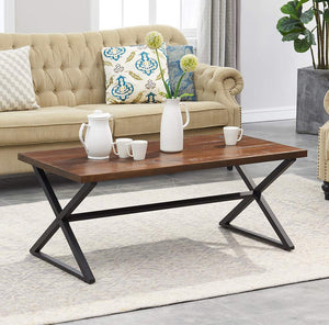 O&K Furniture Farmhouse Industrial Coffee Table