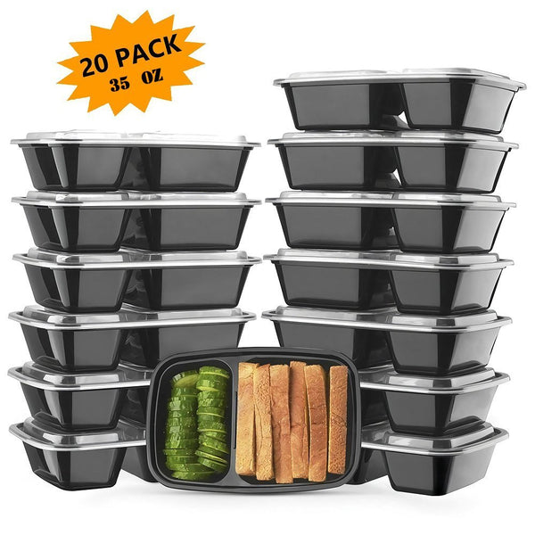 Pack of 20 meal prep containers