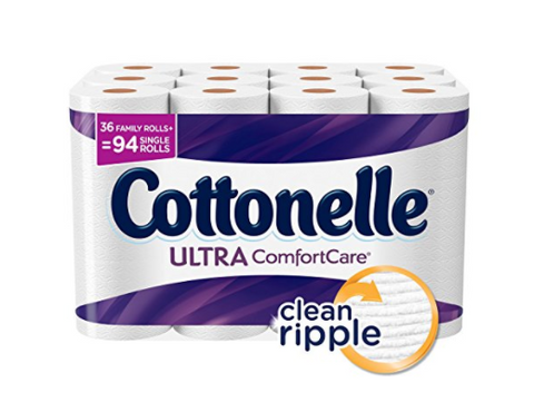 108 family rolls of Cottonelle Ultra ComfortCare toilet paper