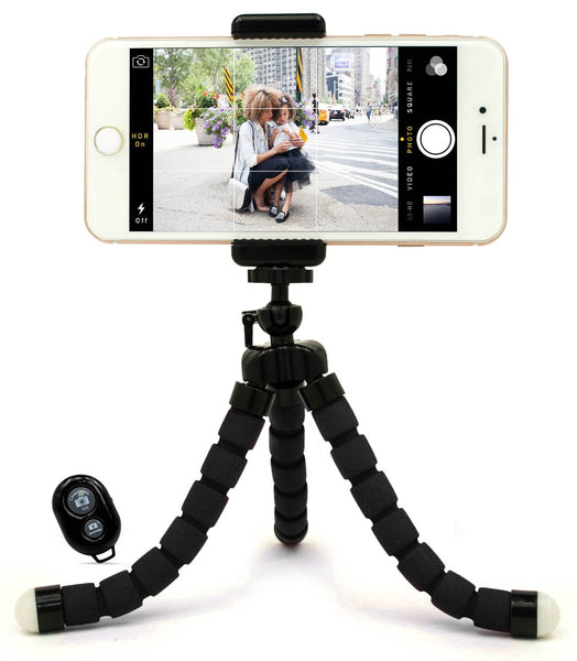 Tripod mount with Bluetooth remote