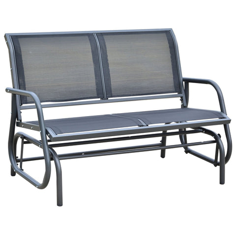 "48"" outdoor patio swing glider bench"