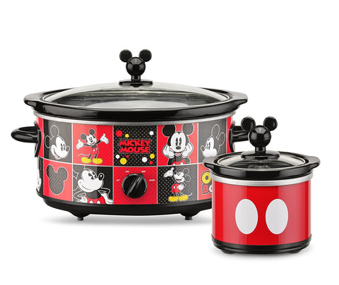 Disney Mickey Mouse Oval Slow Cooker with 20-Ounce Dipper, 5-Quart