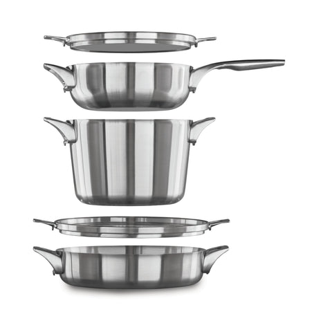 Calphalon Premier Space Saving 5-Piece Stainless Steel Cookware Set