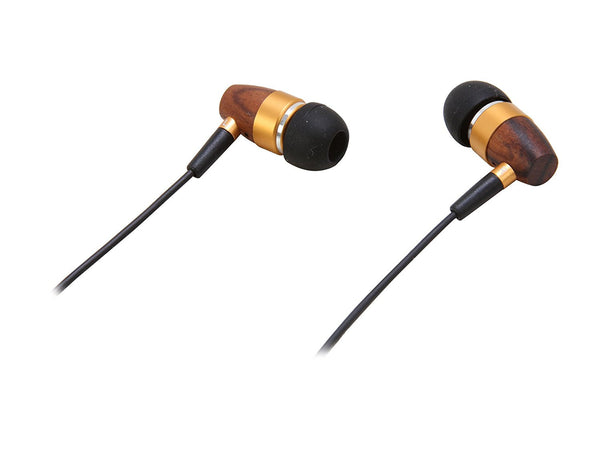Gold-Plated Noise Isolating Rosewood Earbuds