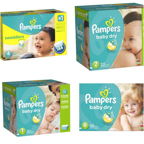 Pampers diapers on sale today