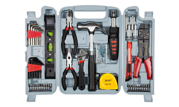 130-Piece Hand Tool Set with Carrying Case
