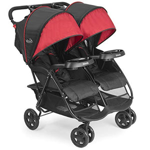 Kolcraft Cloud Plus Lightweight Double Stroller -5-Point Safety System