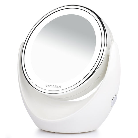 Swivel LED light makeup mirror