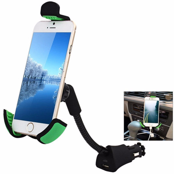 Car phone mount with USB charger