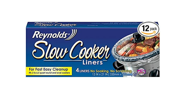 Pack of 12 Reynolds Slow Cooker Liners, 4-Count