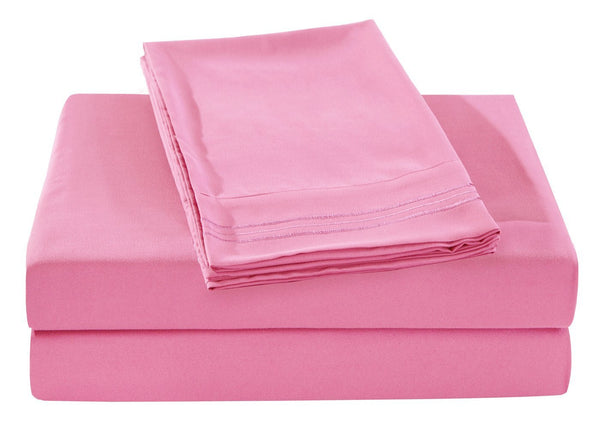 Brushed Microfiber Embroidered Bed Sheet Set