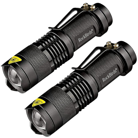 Pack of 2 super bright LED tactical flashlights