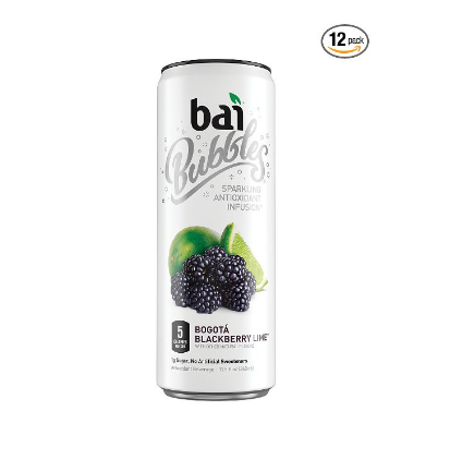 Pack of 12 Bai Bubbles Bogotá Blackberry Lime