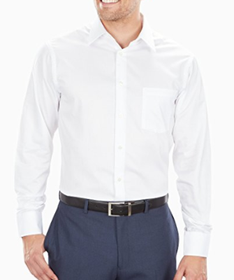Geoffrey Beene men's regular fit white shirt