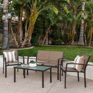 4-Piece Outdoor Patio Metal Furniture Set