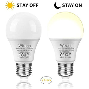 Pack Of 2 Dusk to Dawn LED Ligh Bulbs With Sensors