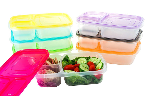 Pack of 7 - 3 compartment containers