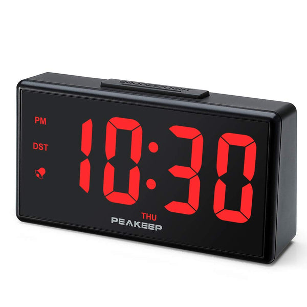 Large Night Light Digital Alarm Clock with USB Charging Port (3 Colors)