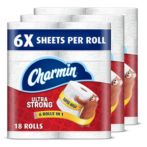 36 Super Mega Rolls Of Charmin Toilet Paper