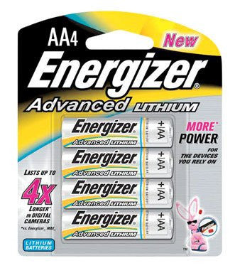 Pack of 4 Advanced Lithium Battery