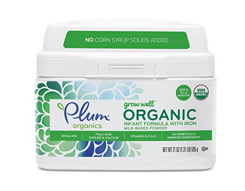 Pack of 4 Plum Organics Grow Well Organic Infant Formula, 21 oz