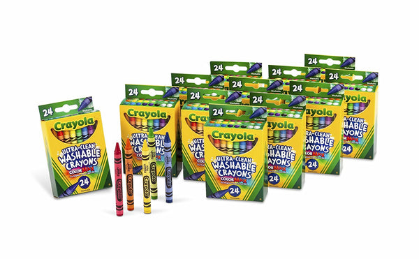 12 Packs of 24-Count Crayons