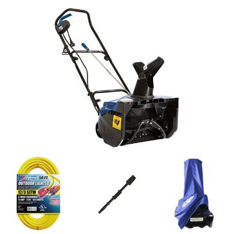 Snow Joe 18″ 13.5-Amp Electric Snow Thrower Bundle With MTD Chute Clearing Tool