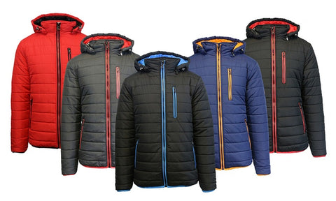 Men's Heavyweight Puffer Jacket with Detachable Hood