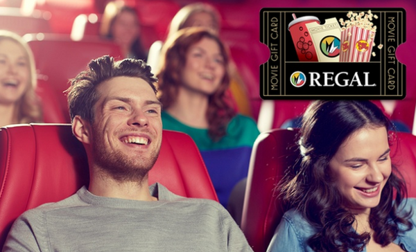 $10 for $15 Regal Cinemas eGift Card