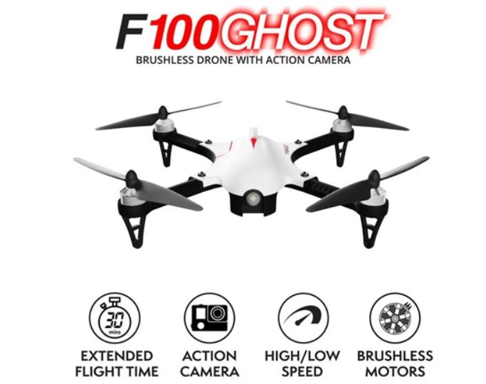 Force1 F100 Ghost Rc Camera Quadcopter Drone For Sharper Aerial