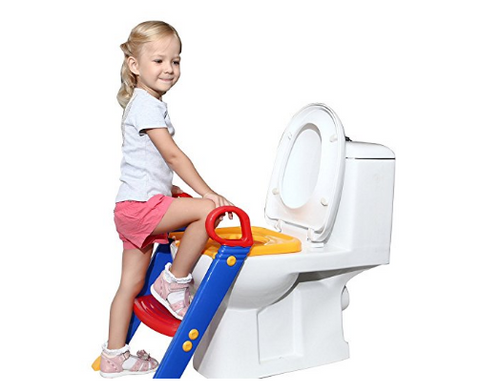 Foldable Baby Potty Seat with Ladder