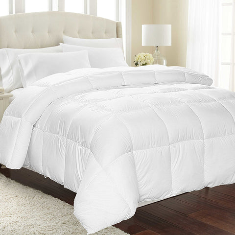 Equinox Down Alternative Comforter (Queen, White)