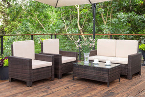 4 Pieces Outdoor Patio Furniture Set